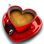 Koffiekopje hart